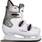 Nijdam Damen Schlittschuhe Eiskunstlauf, Weiß, 41, 1012161