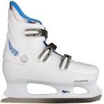 Nijdam Damen Eiskunstlaufschlittschuhe Hardboot, Weiß/Blau, 39, 1013499