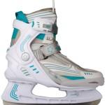 Nijdam Eishockeyschlittschuhe Semi Softboot (42||weiß-anthrazit-aqua)