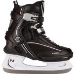 Nijdam Erwachsene Eishockeyschlittschuhe Icehockey Skate, Schwarz/Weiß, 46, 1015690