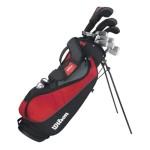 WILSON Herren Golf Komplettset Rechtshand Schläger PROFILE VF1,3,4,5-S,P,B,GR, Mehrfarbig, RH (Rechte Hand), Regular (R), 1.0, WGG157241